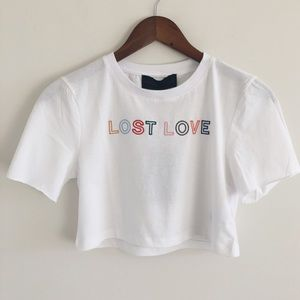NWT Kendall & Kylie Muse Lost Love Crop Top XS